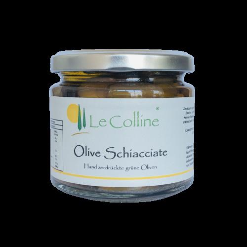 Le Colline Olive Schiacciate - Hand zerdrückte grüne Oliven