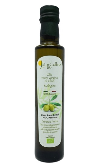 Le Colline Bio Natives Olivenöl Extra 250 ml - aus ökologischem Anbau - DE-ÖKO-039